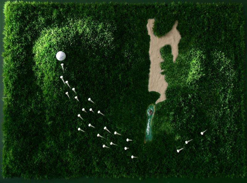 golf 4 golfplatz an der wand martin bildergalerie von rainer martin wien. Black Bedroom Furniture Sets. Home Design Ideas